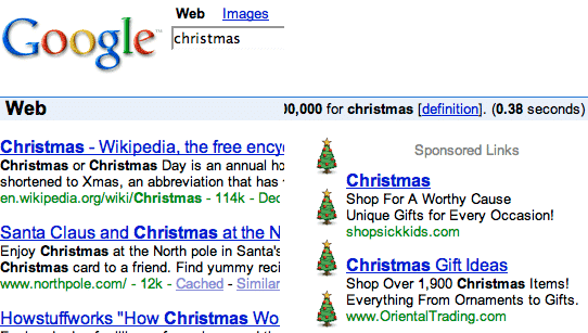 Google Christmas fun