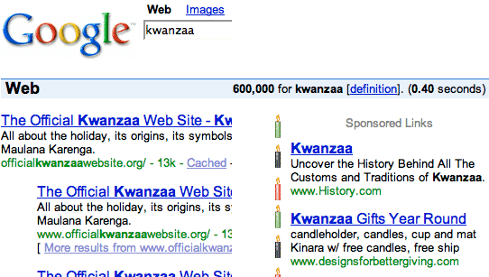 Google Kwanzaa fun