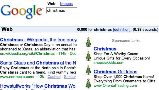 Google Christmas fun