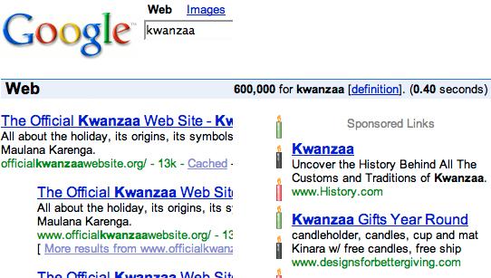Google Kwanzaa fun