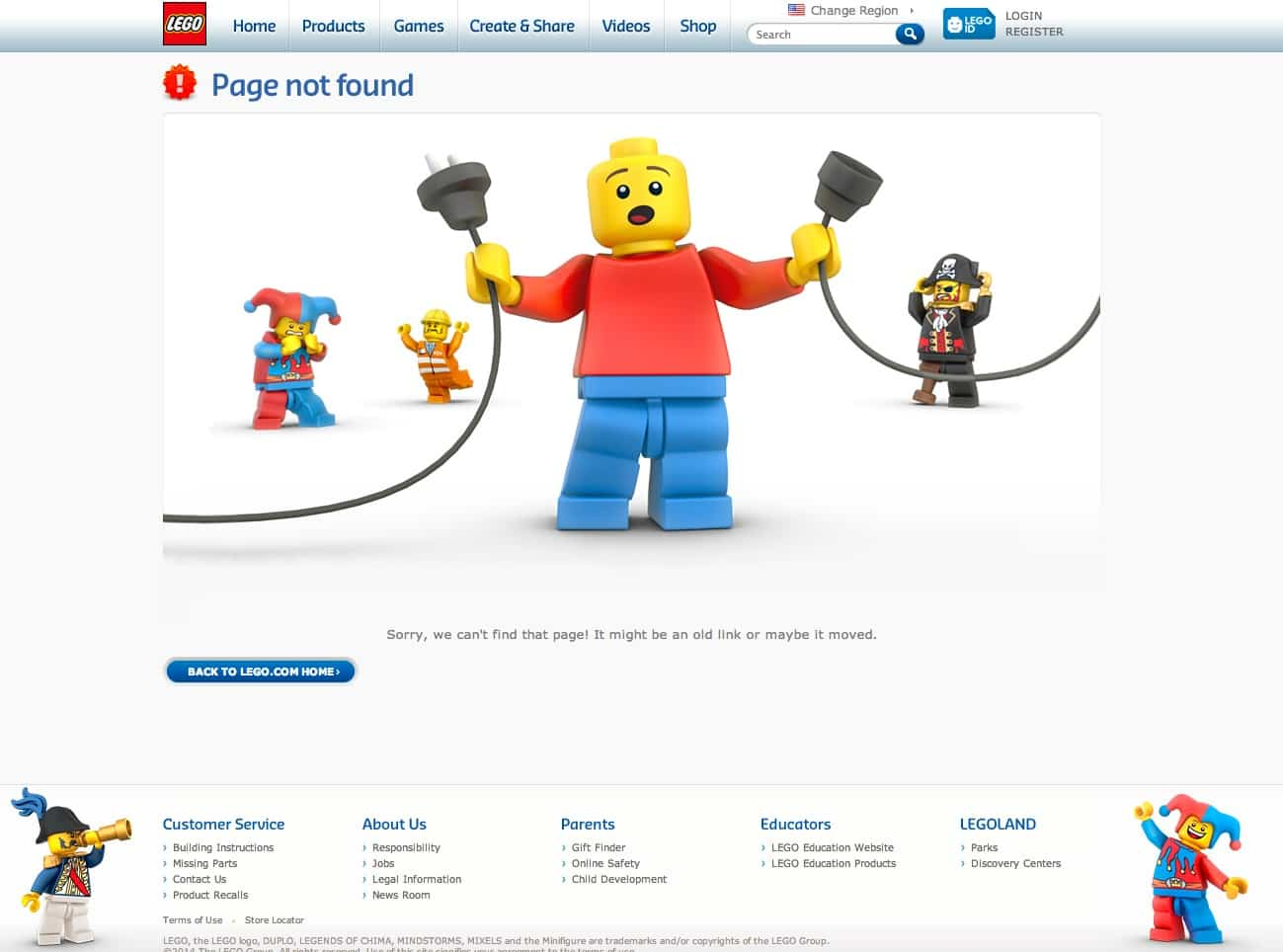 Lego man unplugs the power