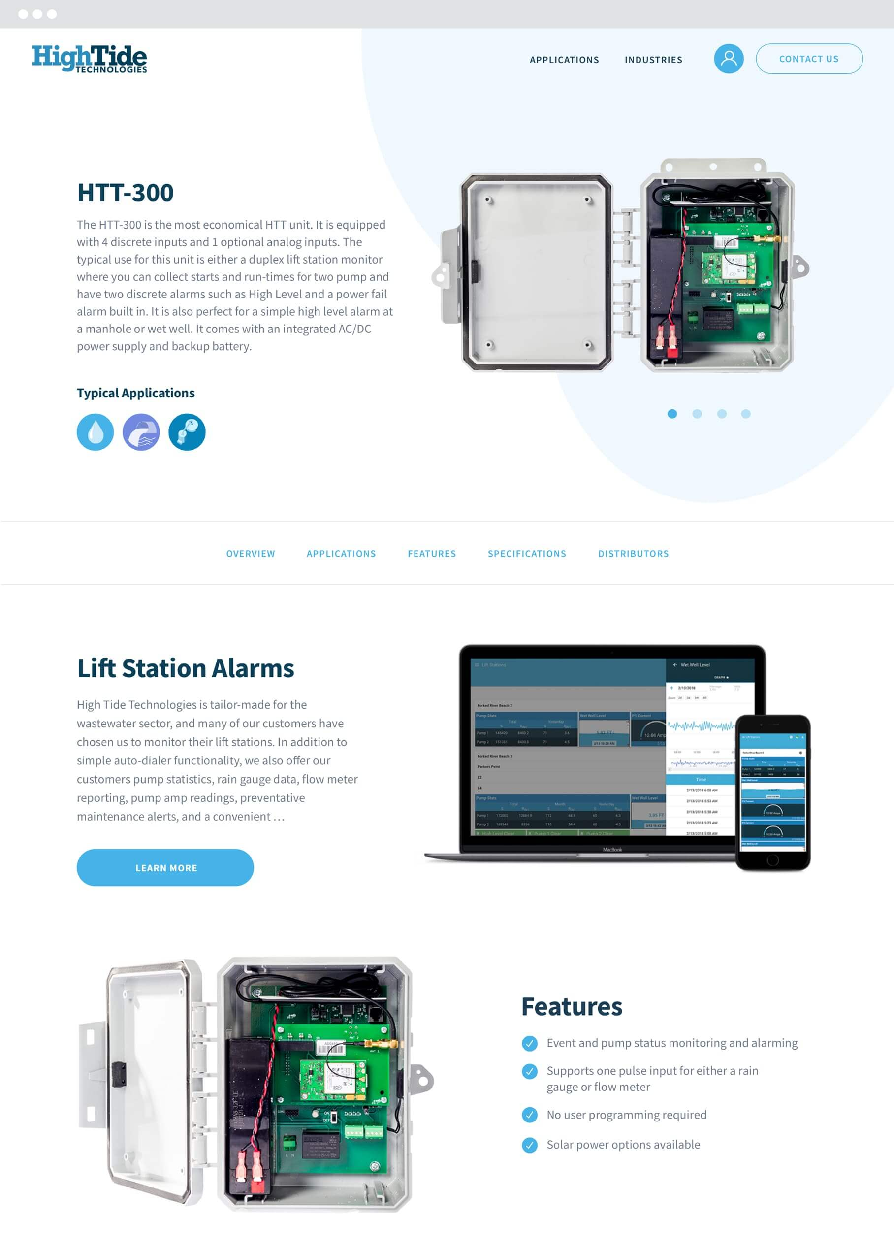 HTT product page