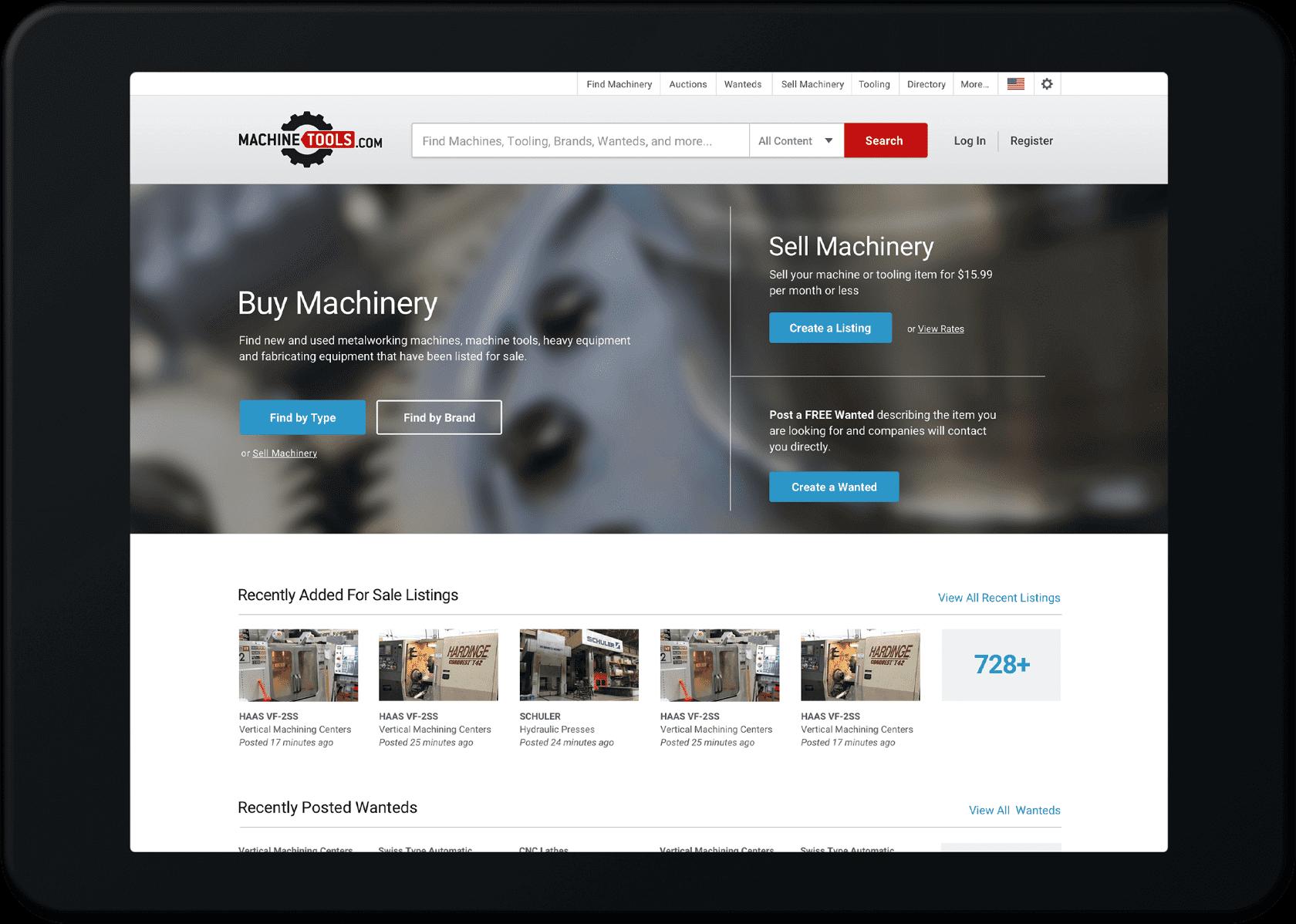 Homepage tablet design