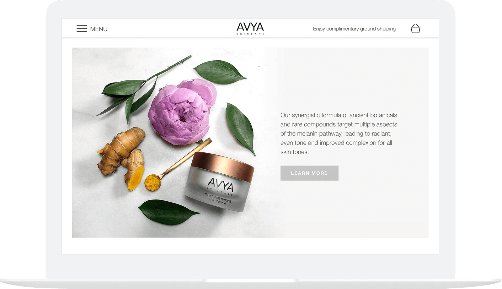 avya website design