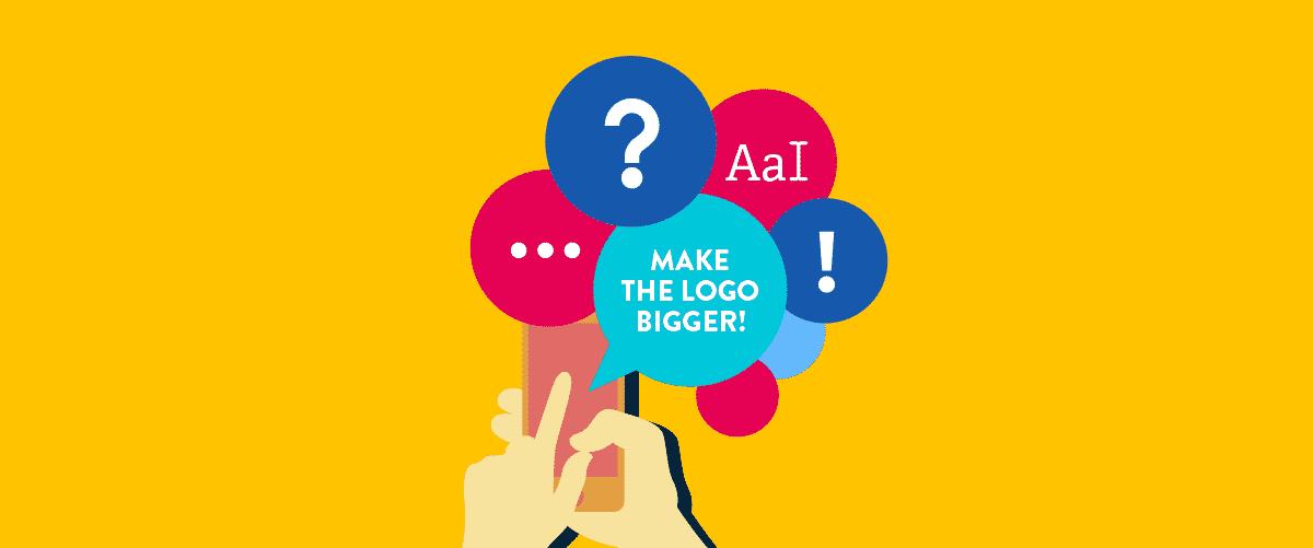 web design feedback: make logo bigger