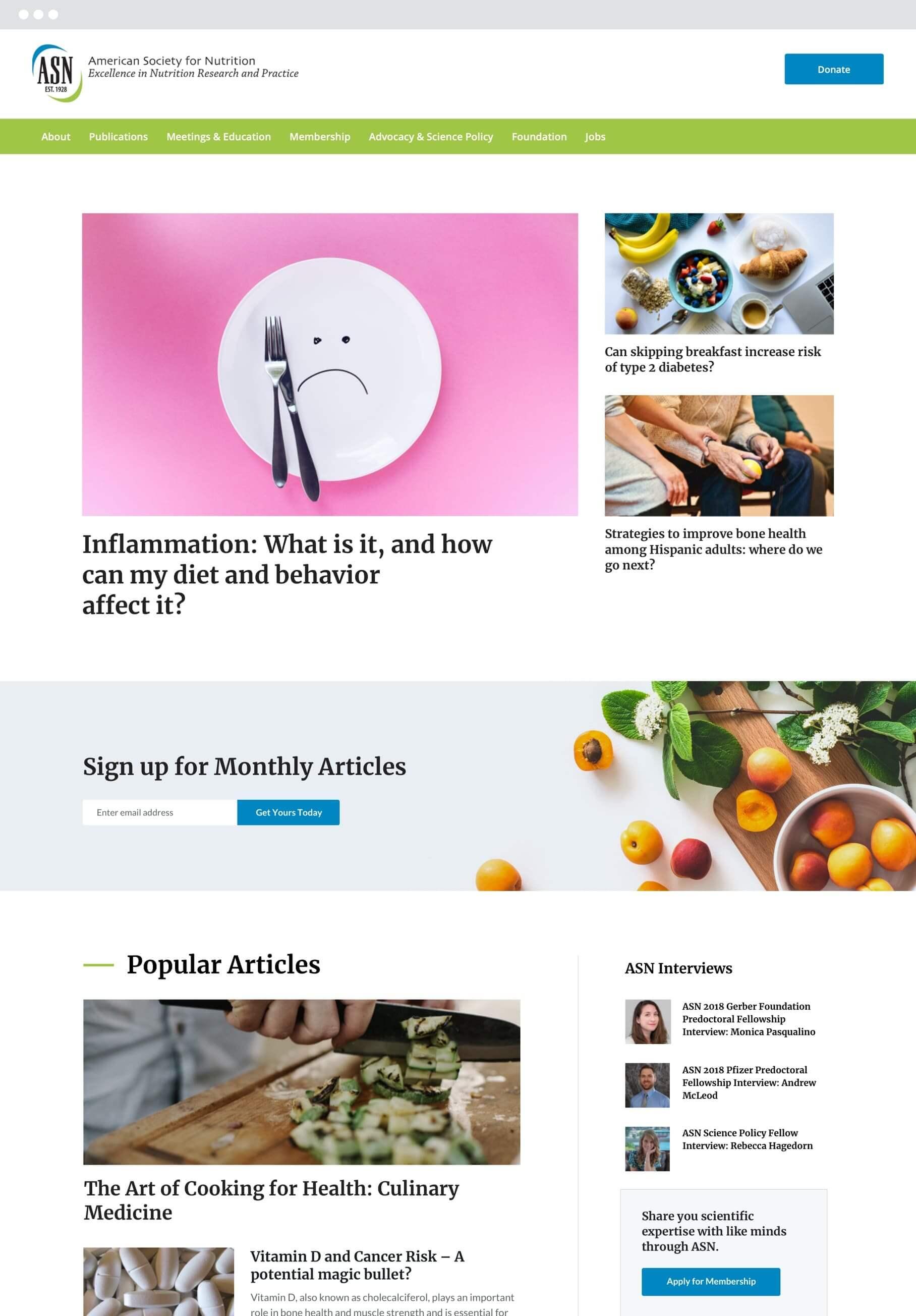 ASN blog landing page