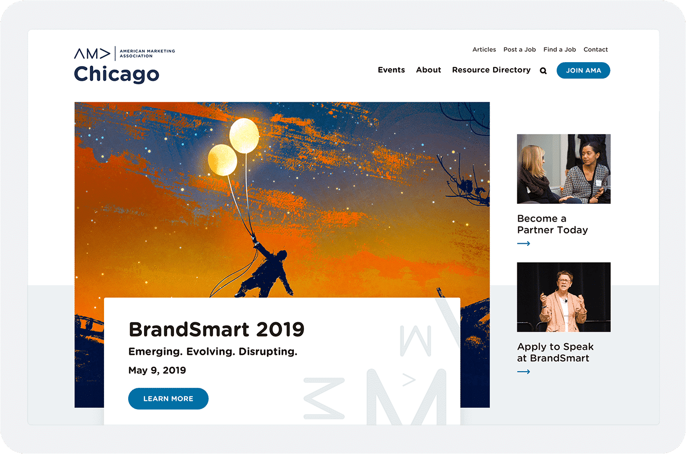 amac-homepage-above-the-fold-area
