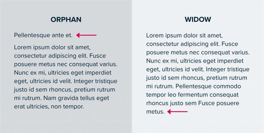 orphans and widows terminology comparison