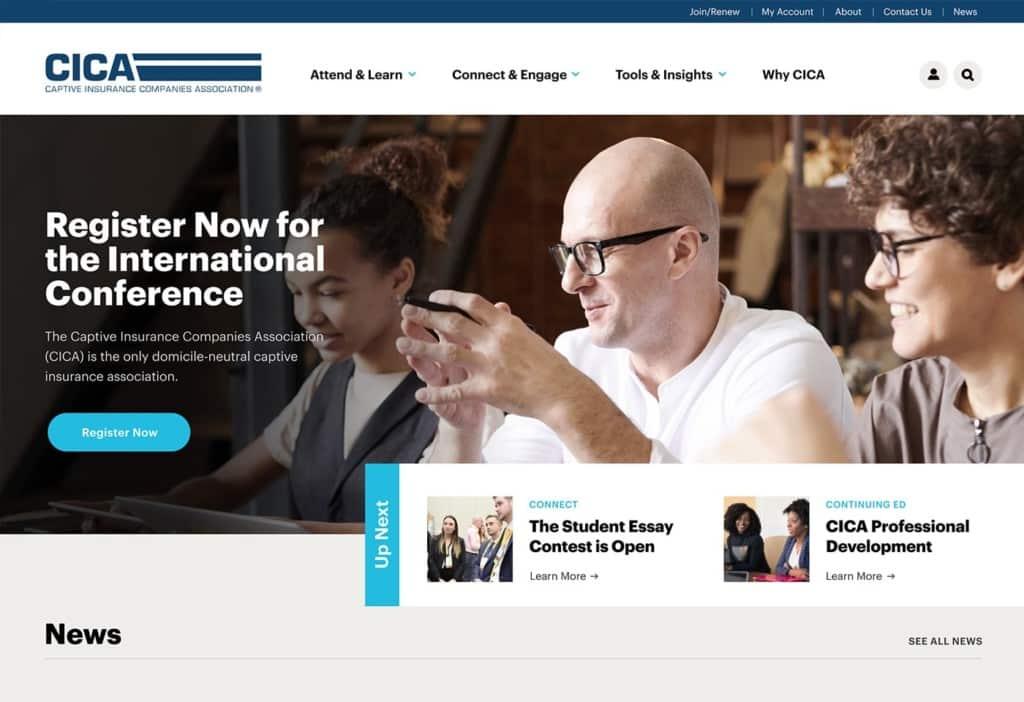 CICA best association website design