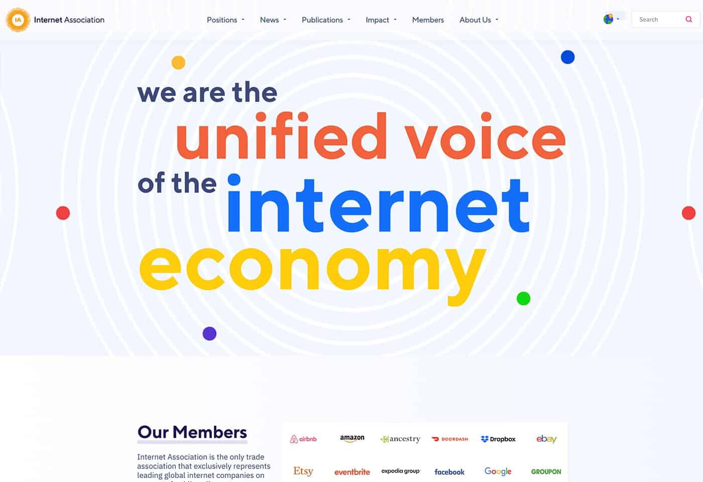 Internet Association screenshot