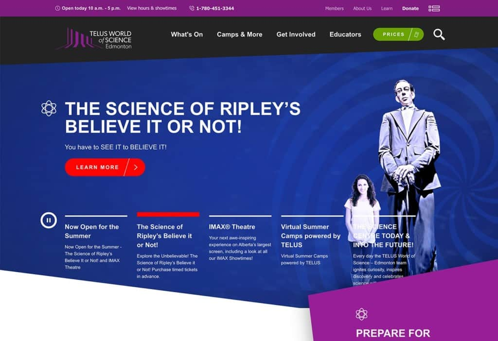 Telus World of Science-Edmonton screenshot