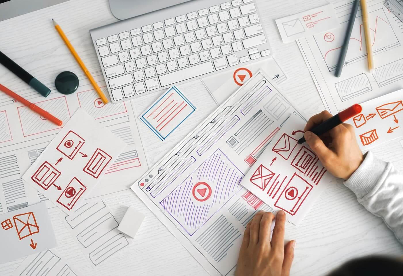 Wireframes of association websites