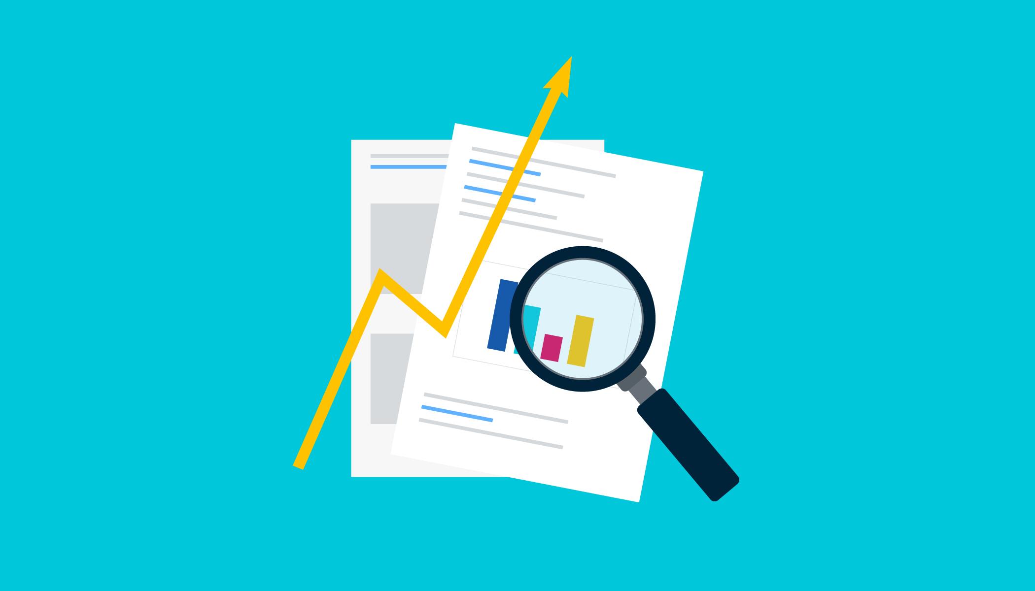 SEO data reports graphic