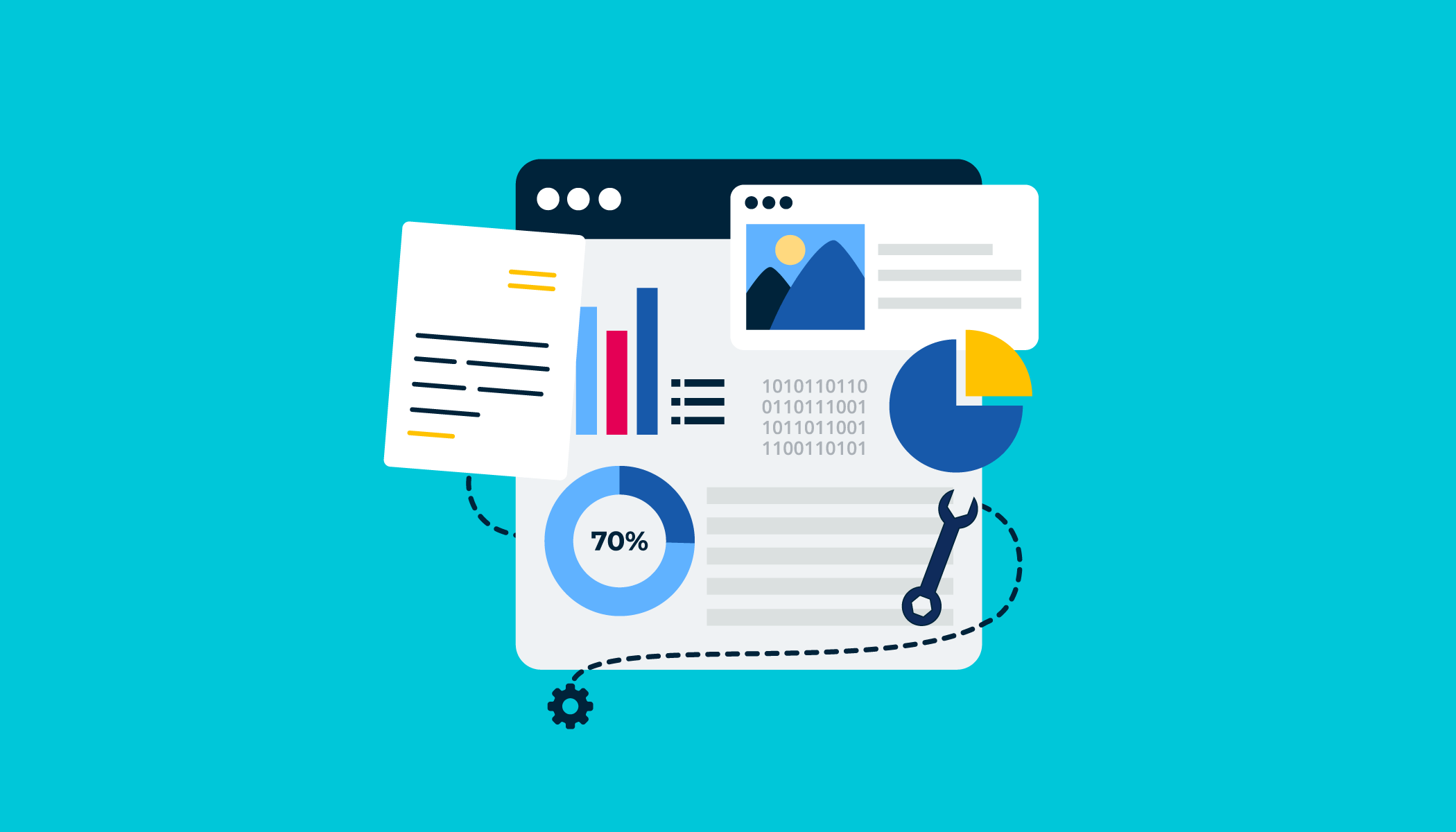 SEO data and content graphic