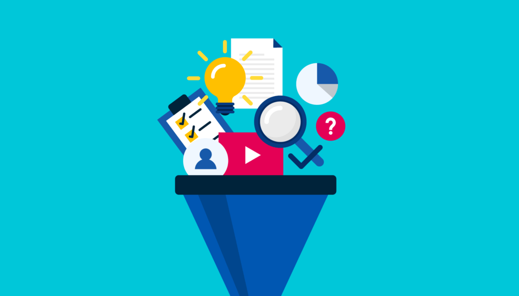 content ideas funnel graphic