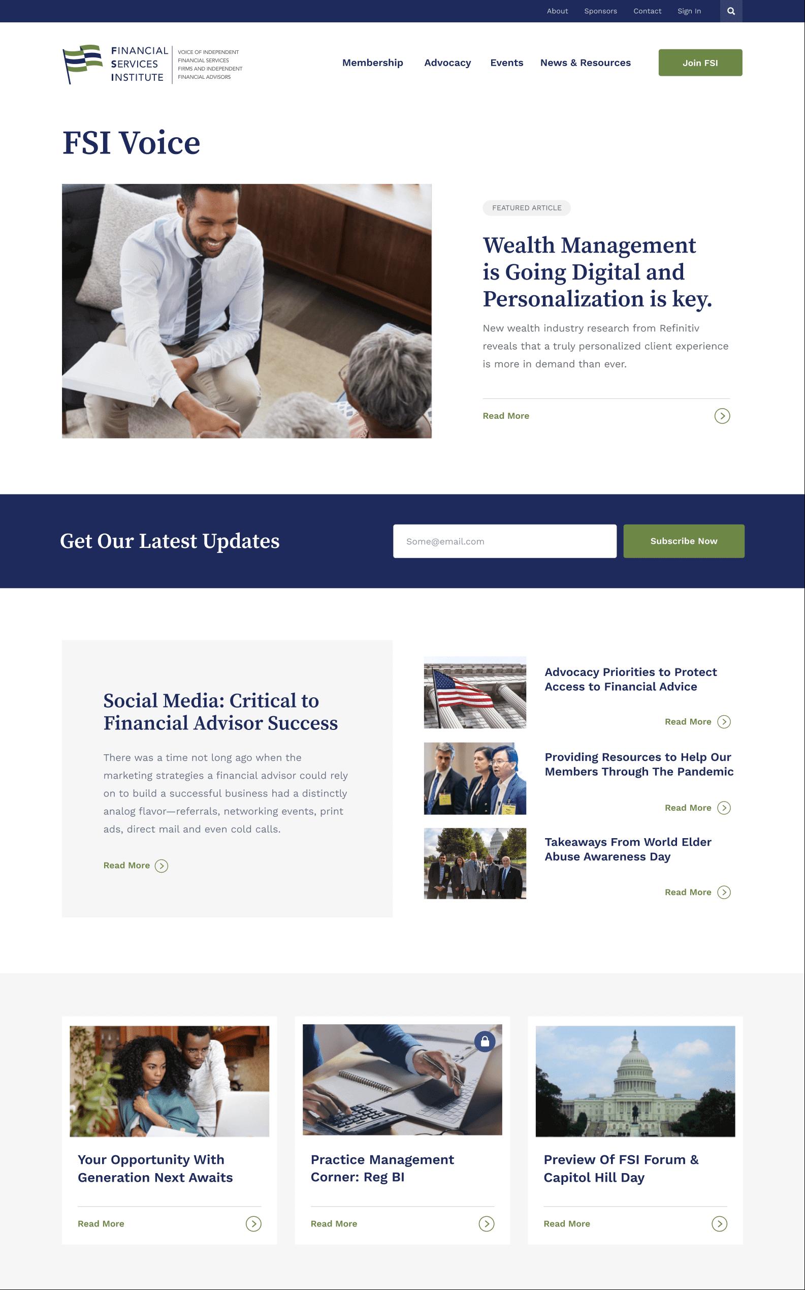 Financial Services Institute voice design