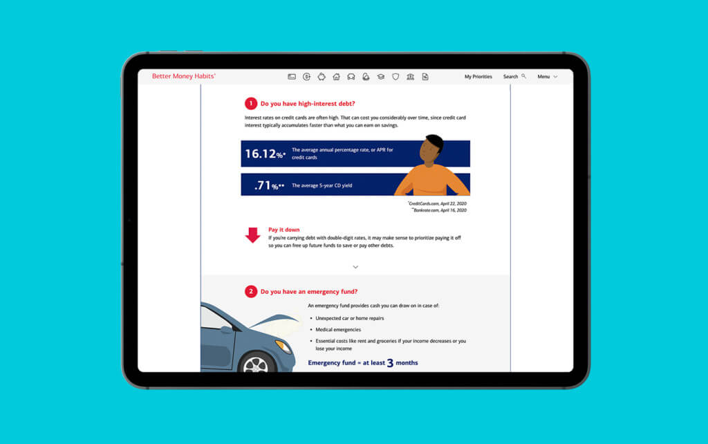 bank of america interactive infographic