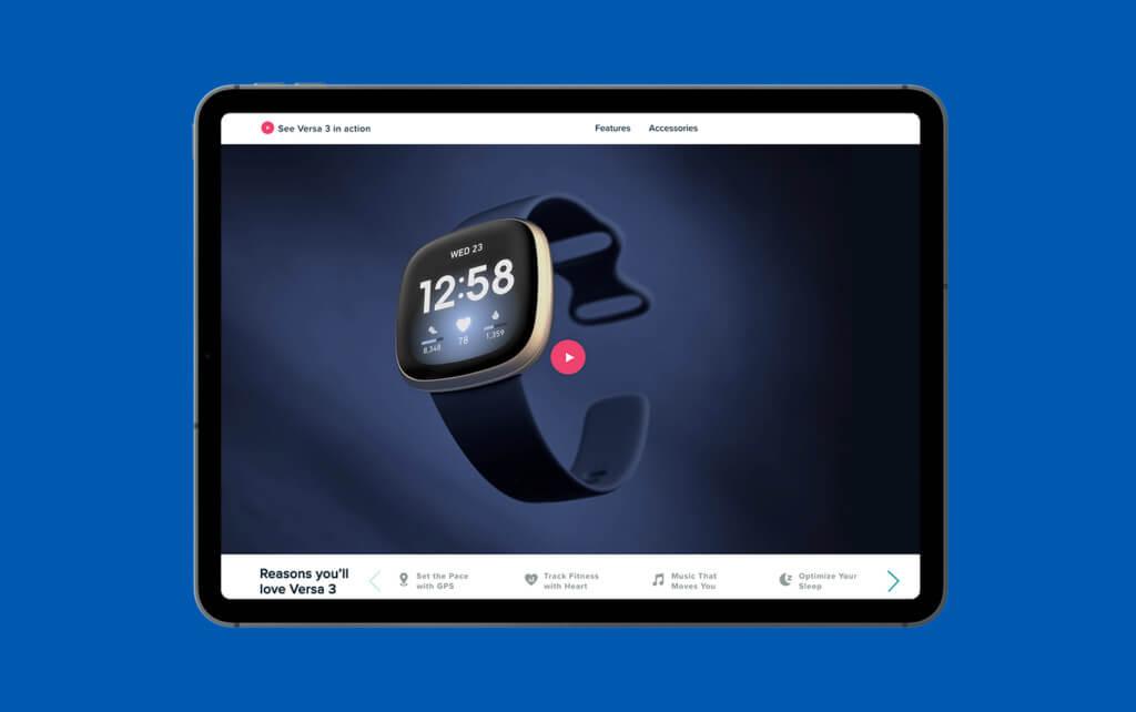 fitbit watch video
